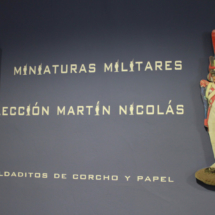 Cartel informativo en el Museo de Miniaturas Militares de Jaca