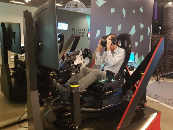 Experiencia de realidad virtual en la Fundación Telefónica