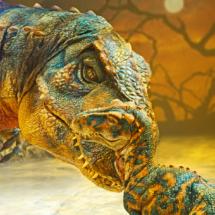 Pieza de la exposición Caminando entre Dinosaurios