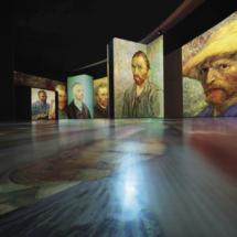 Montaje de la exposición 'Van Gogh Alive'