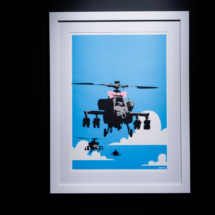 Happy Choppers. Obra de Banksy
