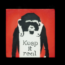 Keep it real. Obra de Banksy