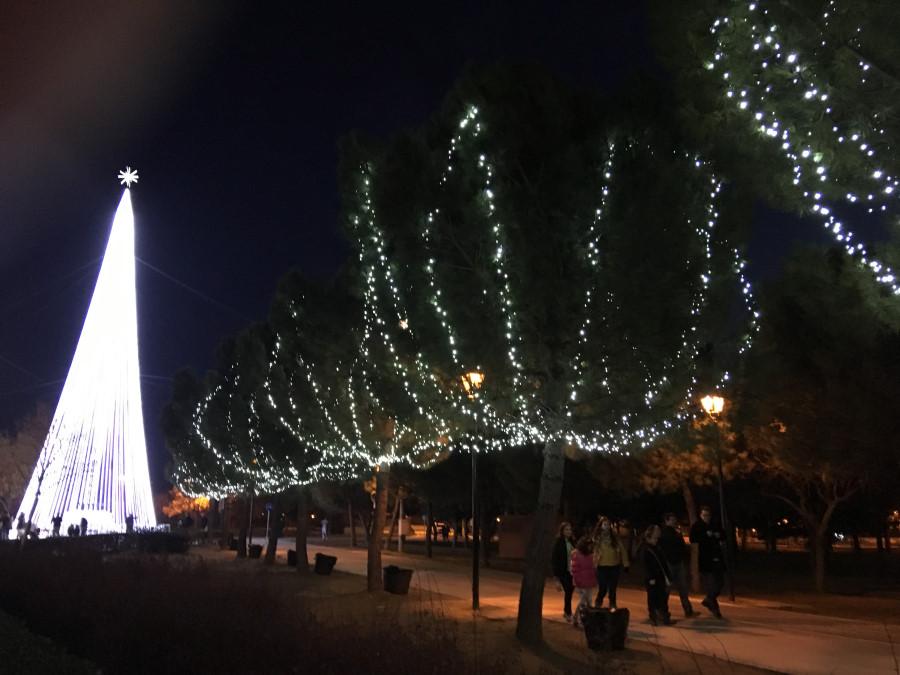 Detalle de las luces navideñas de Torrejón de Ardoz