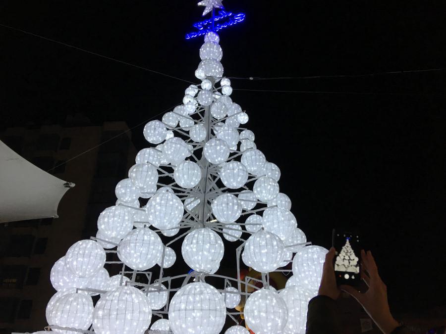Detalle de la decoración navideña de Torrejón de Ardoz