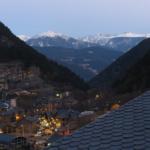 Vistas de Andorra La Vella desde el hotel Princesa Parc, en Arinsal