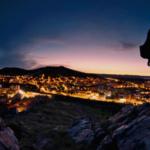 Vista nocturna de Puertollano