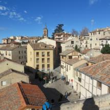 Judería, desde la puerta San Andrés de Segovia