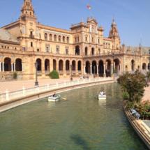 Plaza de España de Sevilla: barcas, torres y la Guerra de las Galaxias