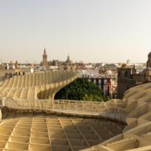 Formas curvas de las Setas de Sevilla