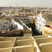 Paneles de madera de las Setas de Sevilla