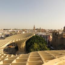 Piezas de madera de las Setas de Sevilla