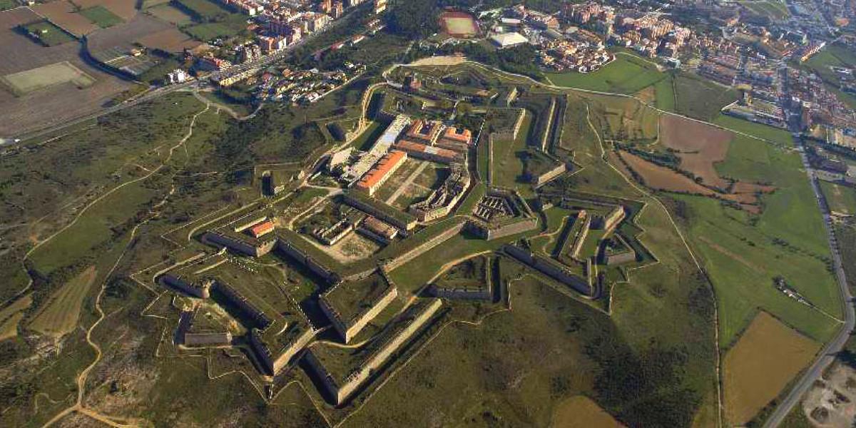 Vista aérea del Castillo de Sant Ferràn
