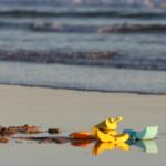Puesta de sol en una playa de la costa de Cádiz