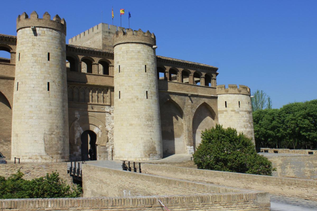 Torres del Palacio de la Aljafería, en Zaragoza