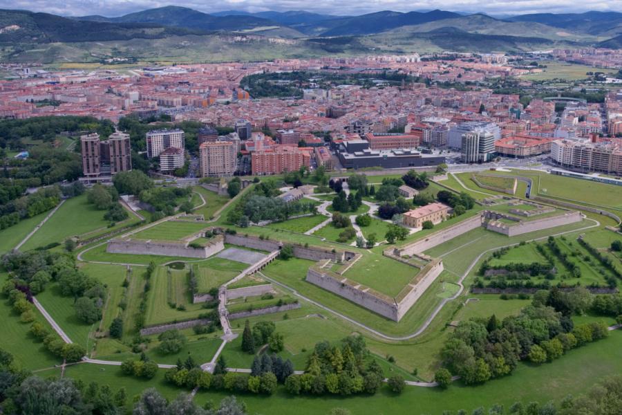 Vista general de la Ciudadela de Pamplona