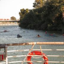 Canoas en el Guadalquivir