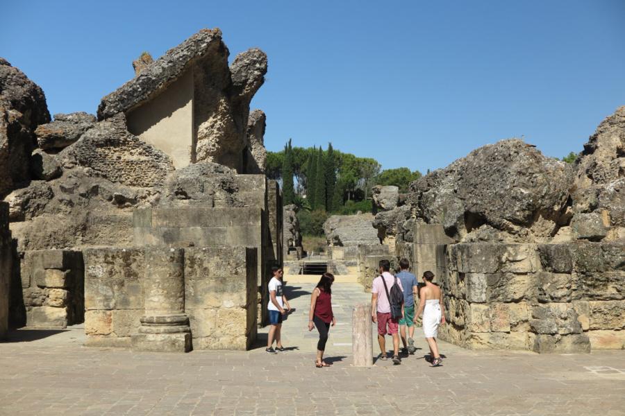 Descubrimos, en familia, las ruinas de Itálica, en Sevilla