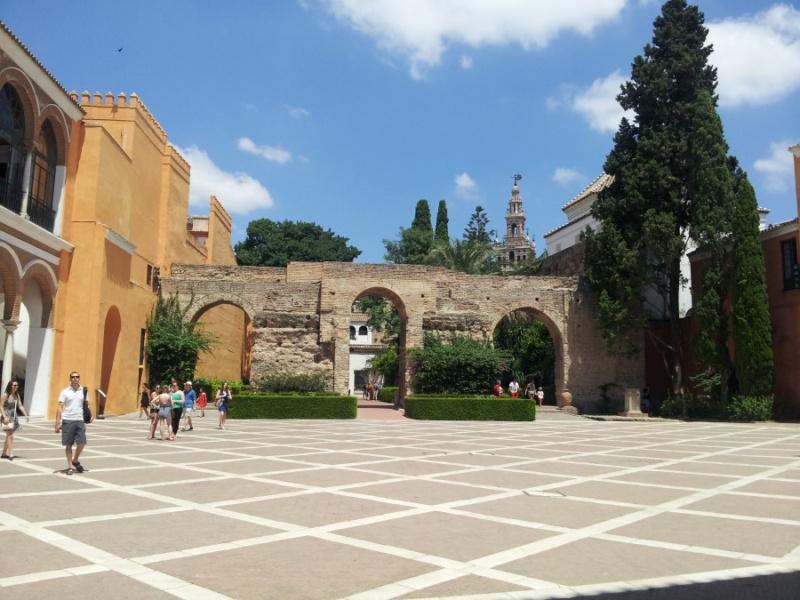 Vista del Alcázar de Sevilla