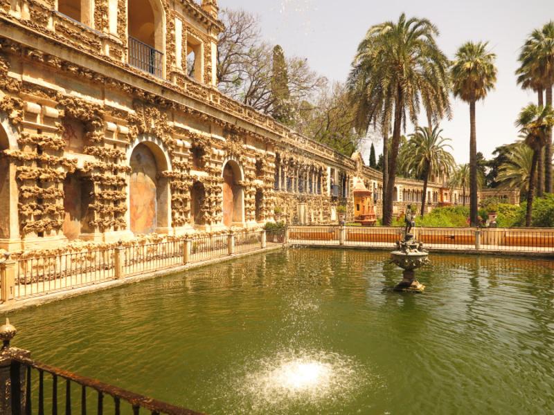 Estanque de Mercurio del Alcázar de Sevilla