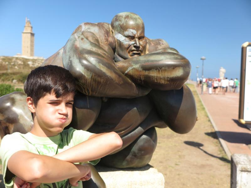 Esculturas del entorno de la Torre de Hércules