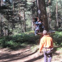 Disfrutamos de una jornada en familia trepando a los árboles
