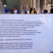 Cartel informativo de la Catedral de Sevilla