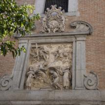 Frontispicio del convento de Trinitarias de San Ildefonso