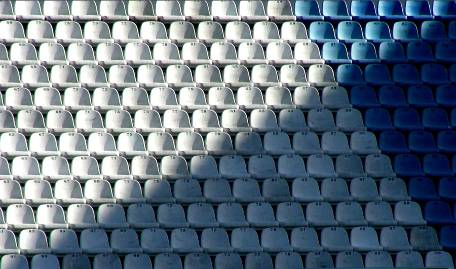 Gradas del estadio de Riazor, en La Coruña
