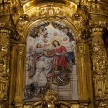 Retablo sobre el milagro de la casulla de San Ildefonso