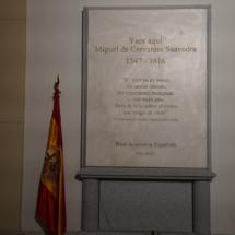 Placa de la tumba de Cervantes en el convento de Trinitarias