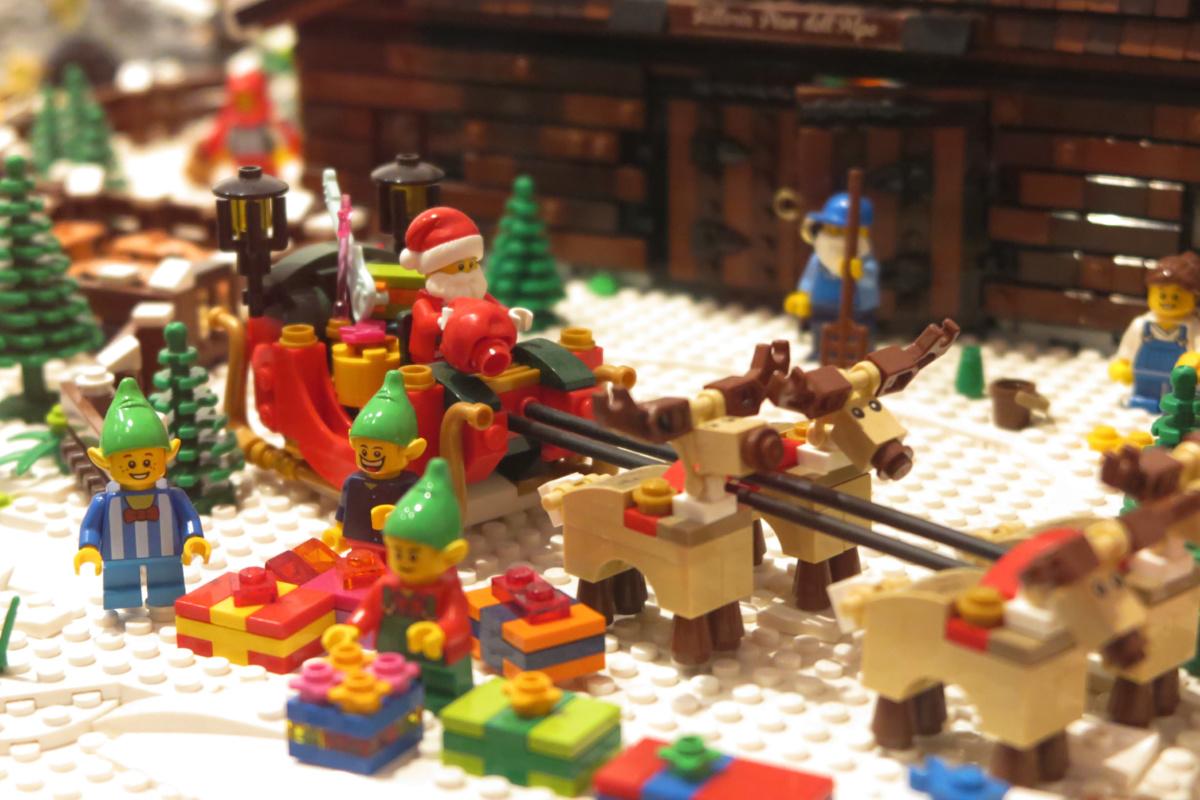 Diorama creado con piezas de Lego©