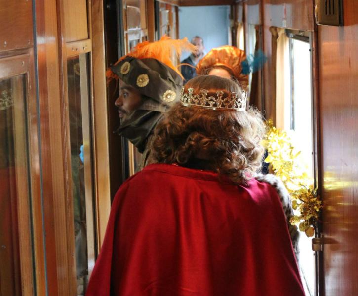 Los tres Reyes Magos acompañan a los viajeros en todos los itinerarios