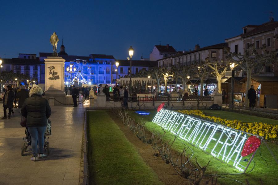 Navidad en Alcalá de Henares: plaza de Cervantes