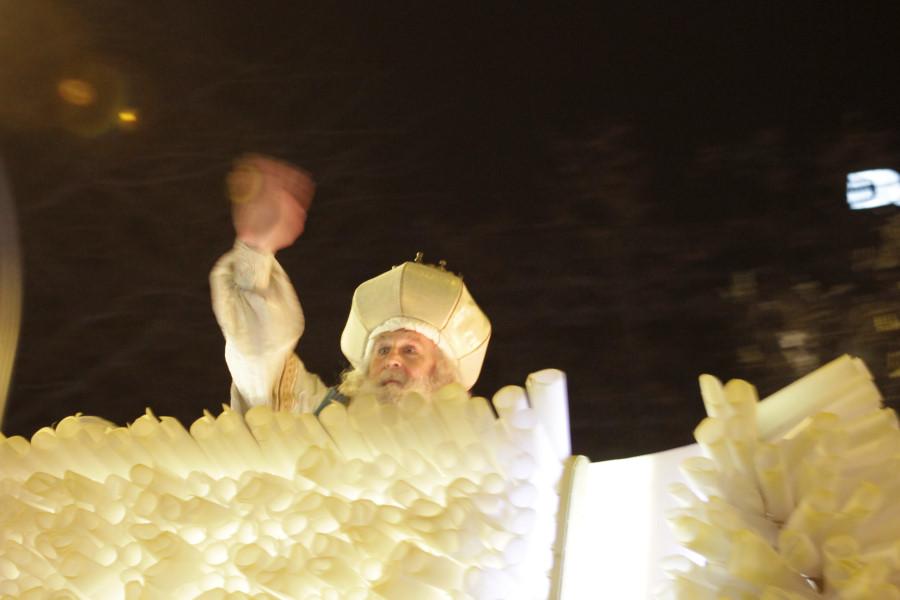 Imagen de Melchor en una Cabalgata de Reyes Magos