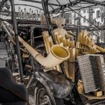 Instrumento musical instalado en el Matadero