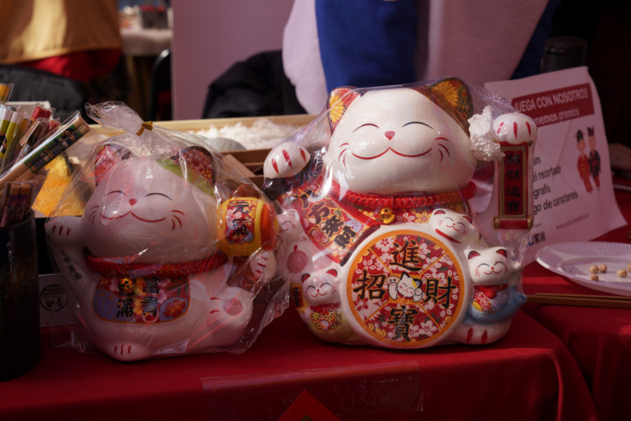 Puesto de artesanía china