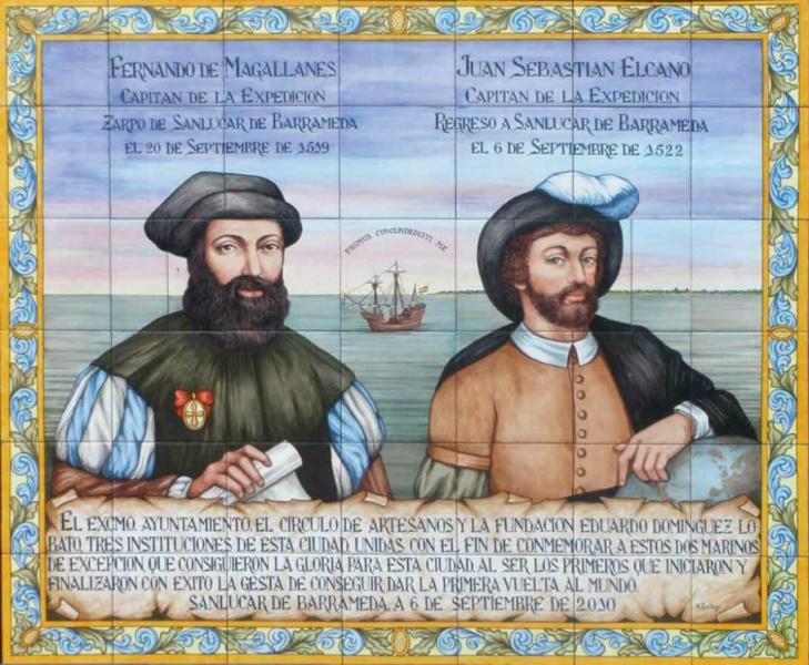 Retrato de Magallanes y Elcano