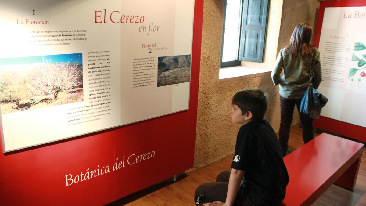 Sala del Museo de la Cereza, en el Valle del Jerte