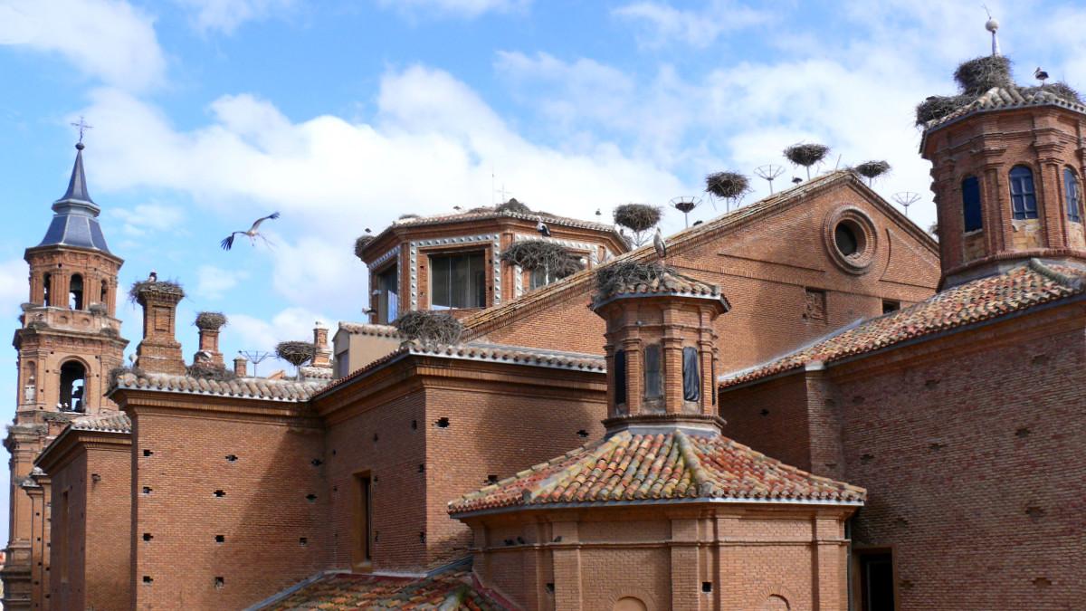 San Miguel de Alfaro, en La Rioja, con sus nidos de cigüeña blanca