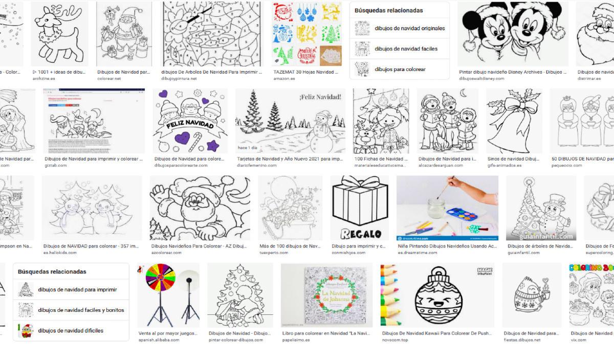 Dibujos de Internet para pintar en Navidad