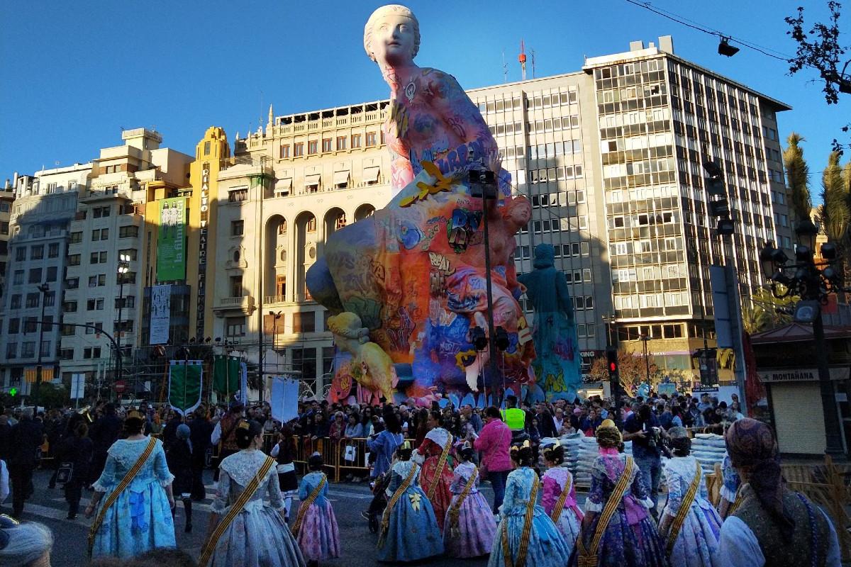 Falla del Ayuntamiento de Valencia de 2019