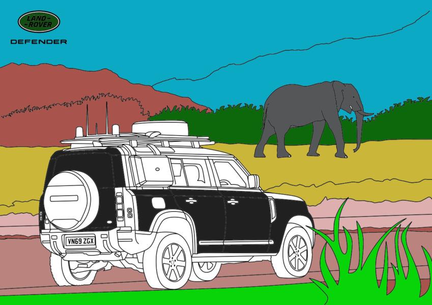Colorea tu aventura 4x4 en África con Land Rover