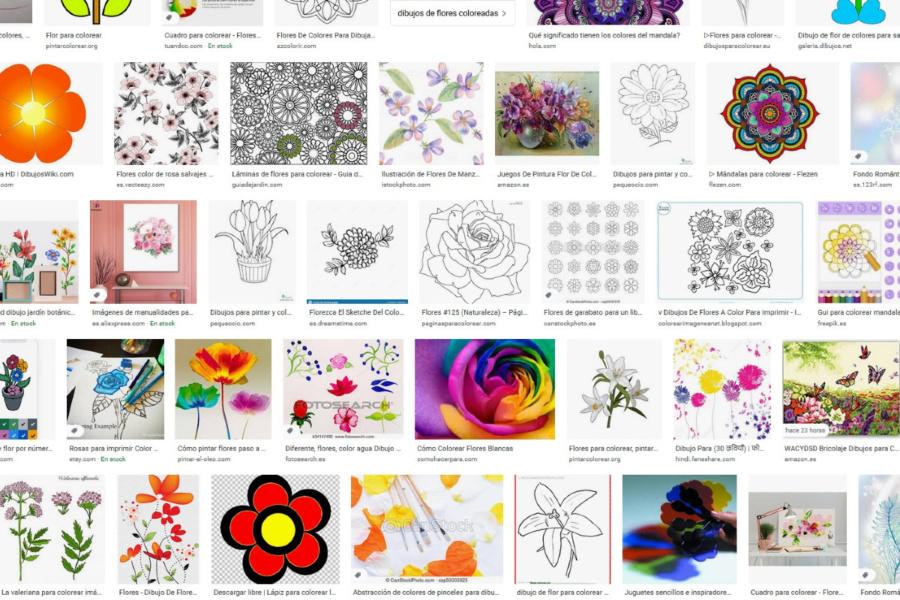 """Dibujamos y pintamos flores para """"montar"""" la primavera en casa"""