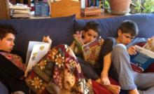 Organizamos una sesión de lectura en casa