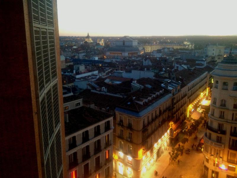 Vistas desde el 'Gourmet Experience', en el centro de Madrid