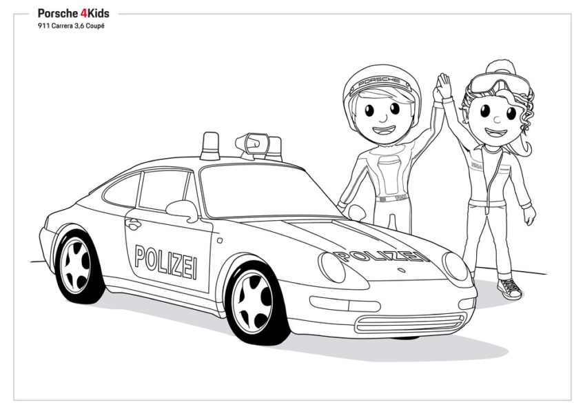 Dibujos para colorear de Porsche