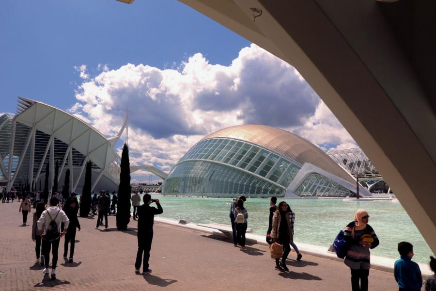 Entorno de la Ciudad de las Artes y las Ciencias de Valencia