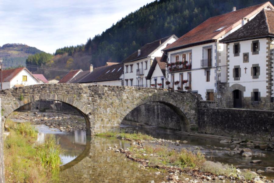 Vista de Ochagavía, en Navarra