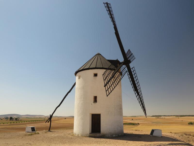 Os contamos cómo funciona un molino de viento manchego