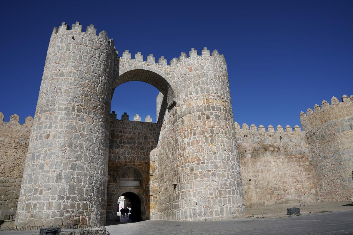 Detalle de una de las puertas de la Muralla de Ávila